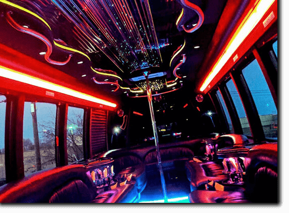 Limo interior with led floor